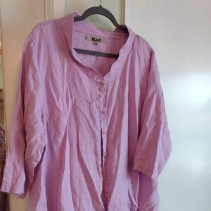 3/4 Sleeve Linen Blouse/Jacket by Flax
